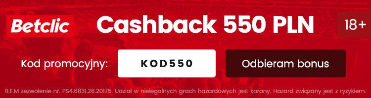 bukmacher betclic w polsce nowy bonus 550